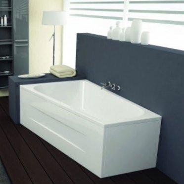 Vasca asimmetrica bea 170 x 110 70 cm - Vasca da bagno piccola con seduta ...