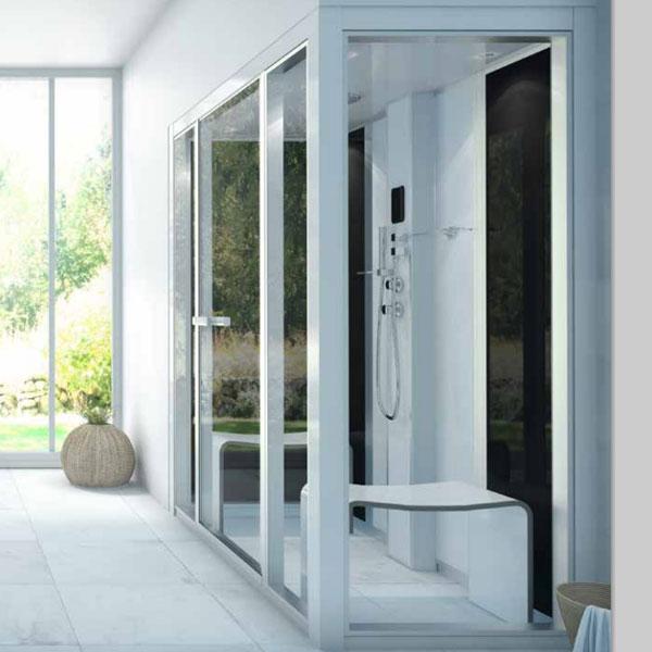 colonna doccia con bagno turco