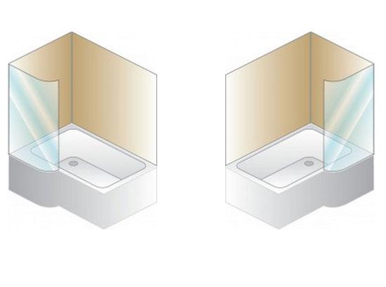 Combinata vasca doccia con vasca con seduta
