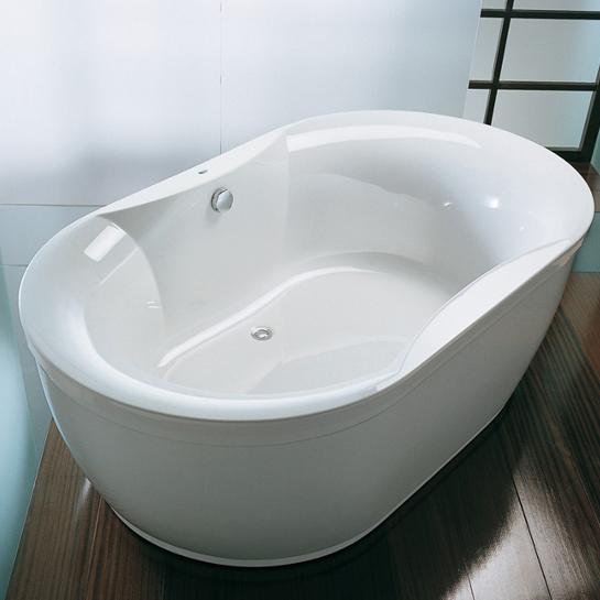 Vasca ovale idromassaggio freestanding - Bagno largo 110 cm ...