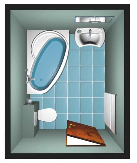 Vasca idromassaggio angolare asimmetrica - Dimensioni vasca da bagno angolare ...