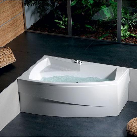Vasca angolare idromassaggio asimmetrica - Misure vasche da bagno piccole ...