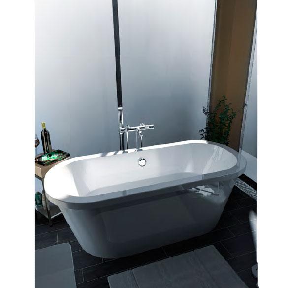 Vasca da centro stanza in corian - Vasche da bagno ovali ...
