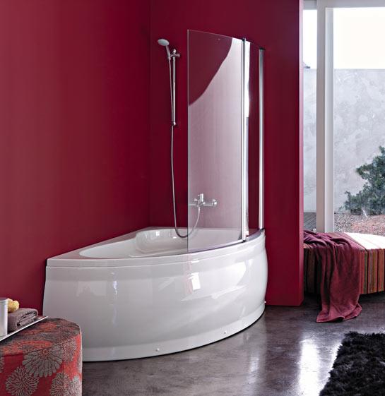 Vasca angolare idromassaggio - Vasca da bagno combinata ...